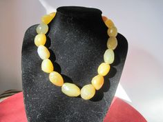 Sterling Silver Faceted Crystal Stone Necklace Yellow love 15 inch United States #Crystal #casual