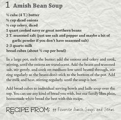 AmishReader.comAmish Bean Soup Recipe + Bonus Cornbread Recipe! - AmishReader.com