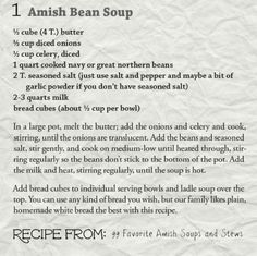 AmishReader.comAmish Bean Soup Recipe + Bonus Cornbread Recipe! - AmishReader.com