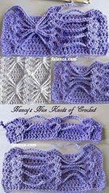 Benefiting From Beginners Crochet Crochet Chart, Crochet Stitches Patterns, Crochet Diagram, Crochet Motif, Crochet Flowers, Knitting Patterns, Knit Crochet, Bonnet Crochet, Tunisian Crochet