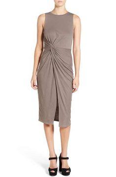Leith Knot Detail Midi Dress