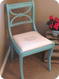 love the chair and the message!!