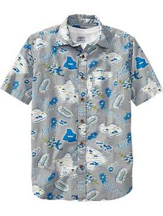 Mens Regular-Fit Hawaiian Shirts | Old Navy
