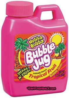 The Bubble Jug - I used to try to chew the entire jug into one chewing gum and it was always so good for like 3 mins then no flavor... lame
