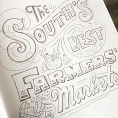 Farmers' Market poster by @marykatemcdevitt Farm Signs, My Favorite Part, Hand Lettering, Alphabet, Typography, Sketches, Instagram Posts, Gifts, Farmers Market