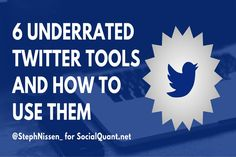 Here a 6 pretty cool underrated Twitter tools that you can use for your business to get some great data on your Twitter account and other twitter users accounts. These are all free Twitter Tools and are worth a quick look.