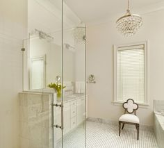 Bling Chandelier for Master Bath | Portfolio, Custom Home Builder, Charleston SC, STRUCTURES