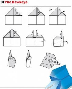 Super ideas origami paper plane how to build Hawkeye, Origami Paper Plane, Origami Easy, Origami Folding, Paper Airplanes Instructions, Best Paper Plane, Best Paper Airplane Design, Airplane Crafts, Hobbies For Men
