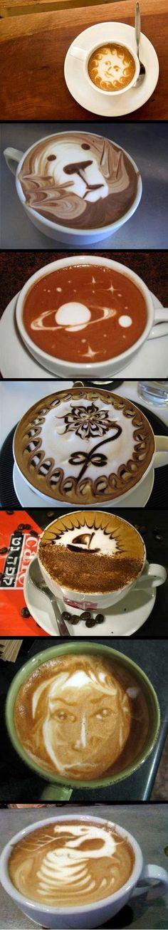 Woah! Very talented baristas....    Coffee Art