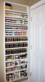Painting Shelves Ideas   craft room - new paint shelf :) love!   Workspace/storage Ideas