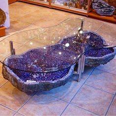 Amethyst coffee table