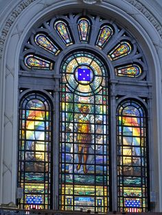 Grand stained glass window, U. Naval Academy Chapel, Annapolis the prettiest church I seen so far Mid Atlantic States, Go Navy, Annapolis Maryland, Church Windows, Naval Academy, Military Academy, Navy Military, Stained Glass Designs, Place Of Worship