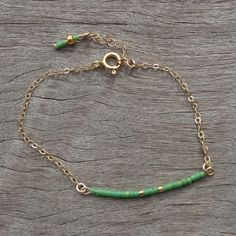 Miyuki fine beaded bracelet on fine gold filled chain and spring clasp Wire Jewelry, Jewelry Crafts, Jewelry Art, Beaded Jewelry, Jewelery, Jewelry Accessories, Handmade Jewelry, Jewelry Design, Fashion Jewelry