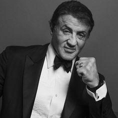 Sylvester Stallone - Black and White Portraits of Celebrities at the Golden Globes – Fubiz Media