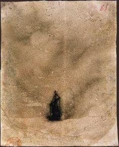 Victor Hugo- Les Travailleurs de la mer : Dans la brume Victor Hugo, Photography Illustration, Illustration Art, Etching Prints, William Turner, Ink Master, India Ink, Creative Outlet, Printmaking