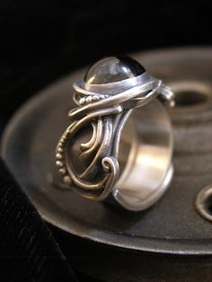 Garnet Cabochon Sterling Wire Work Ring: Brittany Foster: Artful Home