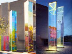 Two Light-Prisms by Heinz Mack, Kirchstrasse, Vaduz, Liechtenstein