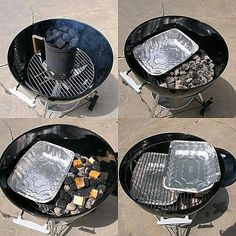 Don& want to buy a smoker when you already have a Charcoal Grill? I don& blame you. Here& how to use your charcoal grill and smoke traditional barbecue. Charcoal Smoker, Best Charcoal Grill, Charcoal Bbq, Charcoal Grill Smoker, Barbecue Ribs, Bbq Grill, Grill Grates, Clean Grill, Barbecue Sauce