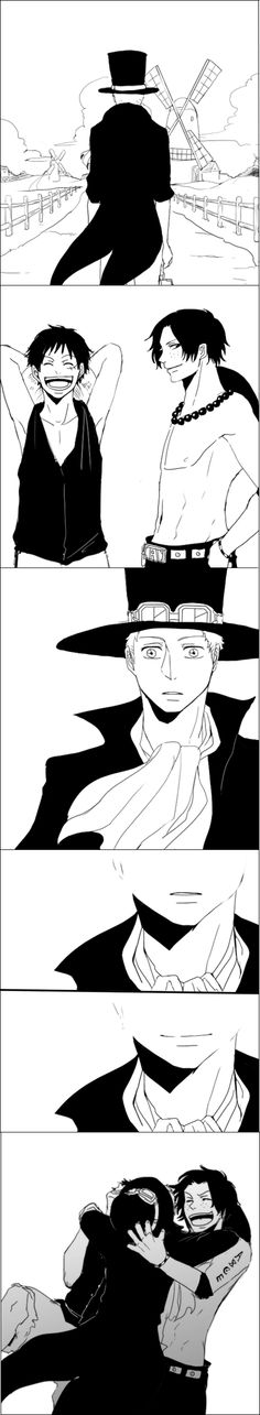 ASL -one piece - Sabo, Luffy, Ace