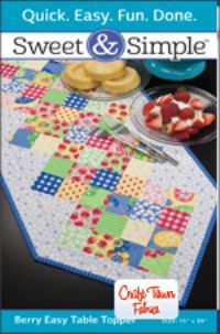 Berry Easy Table Runner Pattern  Only S705P