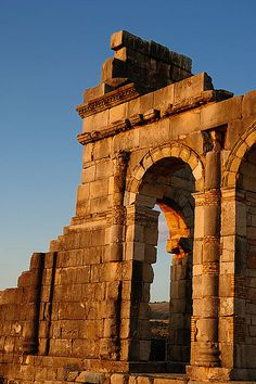Roman Archaeological Site of Volubilis, Morocco. UNESCO World Heritage Site