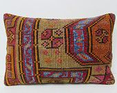 earthy kilim pillow 16x24 earth pillow case lake house decor floral pillow case boho bedroom handmade pillow case turkish throw pillow 26957
