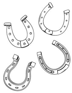 Horseshoe outline  Super Coloring  Crafts for kids  Pinterest
