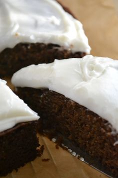 gingerbread with spiced rum buttercream
