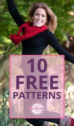 10 Free Knitting and Crochet Patterns! Free Knitting, Knitting Patterns, Crochet Patterns, Crocheting, Knit Crochet, Free Pattern, Crafts, Diy, Sewing Patterns
