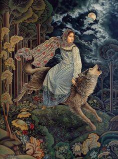 Художник - Лорел Лонг, картина «Волк»
