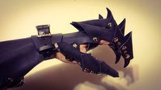 Clawed Dragon Gauntlets / Bracer - Claw Gauntlet, Bracer, Leather Armor, Nazgul, Vampire, Ringwraith by FirebirdLeather on Etsy https://www.etsy.com/listing/208166911/clawed-dragon-gauntlets-bracer-claw