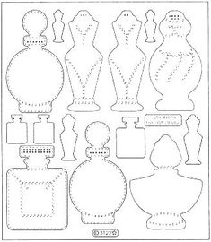 perfume bottles templates