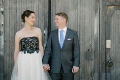 Katia Taylor Photography, Toronto Wedding. Bride and Groom, vintage black lace wedding dress.
