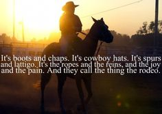 """""""Rodeo"""" - Garth Brooks; just a really good song that everyone loves."""