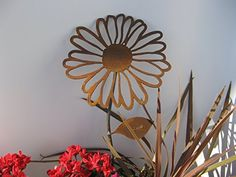 Metal Rusty Daisy Garden Stake -- Read more reviews of the product by visiting the link on the image.