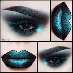 depechegurl Lips - Venom Liquid Lipstick and Lumi Eyeshadow on top. Eyes - Dark Matter Eyeshadow and Lumi Eyeshadow. Brows - Black Gel Liner and Lumi Eyeshadow. Goth Makeup, Dark Makeup, Makeup Inspo, Makeup Art, Lip Makeup, Makeup Inspiration, Makeup Tips, Makeup Ideas, Eyebrow Makeup