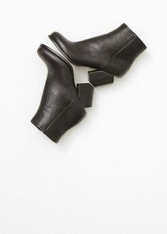 Maison Martin Margiela Slant Heel Ankle Boot in Black — https://totokaelo.com/maison-martin-margiela/slant-heel-ankle-boot/black/J13289
