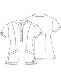 Adar Indulgence Women's Jr. Fit Keyhole Top Scrub Suit Design, Stylish Scrubs, Scrubs Uniform, Flat Sketches, Medical Uniforms, Fashion Design Sketches, Princess Seam, Workout Tops, Mens Suits