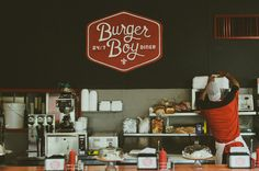 State Champs // Burger Boy Logo // Burger Boy Diner	 // Ty Kreft, Graphic Designer // Amanda Bishop, Sign Painter