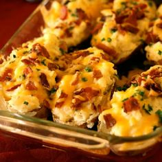 Twice Baked Potatoes - Alexa and I are having these tonight - YUM!