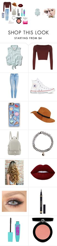 """""""Chill street chic"""" by ruya-23 on Polyvore featuring Abercrombie & Fitch, WearAll, Converse, Zero Gravity, MICHAEL Michael Kors, Accessorize, Lime Crime, Yves Saint Laurent, Armani Beauty and Jimmy Choo"""