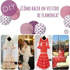 Cómo hacer un vestido de Flamenca paso a paso Flamenco Skirt, Dress Sewing Patterns, Love Sewing, Diy Dress, Sewing Clothes, Sewing Tutorials, Diy Tutorial, Pattern Design, Couture