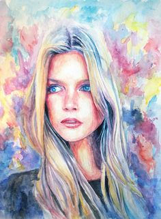 "Image of ""Wonder"" Original Watercolor Painting"