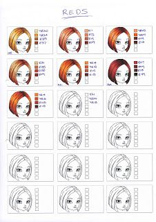 Copic Hair Swatches