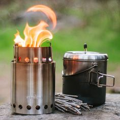 New Stove Pot Camp Stove Camping Hiking Cooking Wood Burner Portable Backpacking Camping Table, Camping Gear, Camping Hacks, Camping Gadgets, Camping Dishes, Camping Grill, Camping Trailers, Backpacking Gear, Camping Recipes