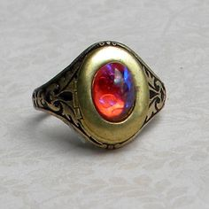 Dragons Breath Ring  Poison Ring  Dragons Breath Opal by Msemrick, $20.00