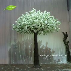 GNW BLS1512001 New design High similation Fake Silk White cherry blossom tree for Wedding stage decoration