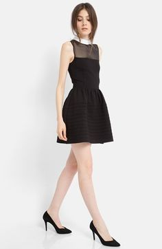 maje 'Eponime' Stretch Fit & Flare Dress
