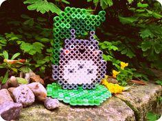Totoro perler beads by houseofbetty