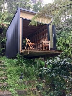 Shipping Container Home Designs to be – Design Kaktus Nest Design, Cabin Design, Tiny House Design, Design Design, Container Cabin, Container House Design, Grand Designs New Zealand, Casas Containers, Tiny House Cabin
